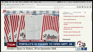 Portillo's reveal opening date for Fishers location - Video