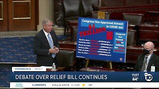 Debate over relief bill continues in Capitol