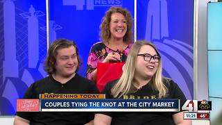 Couples tying the knot at City Market - Video