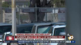 Students brace for day 4 of blistering heat - Video