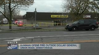 Gunman in body armor opens fire outside Dollar General - Video
