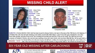 6-year-old missing after carjacking in Pinellas Park
