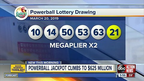 No one wins Powerball, ticket worth $1M sold in Florida