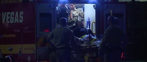 Las Vegas police officer, 2 others shot during confrontation