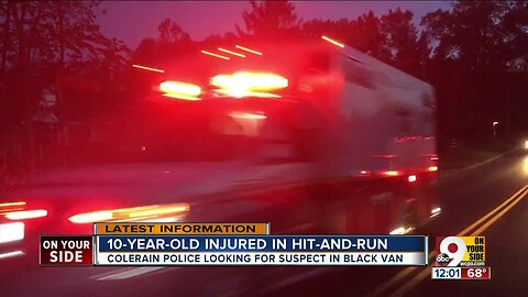 10-year-old hurt in hit-and-run