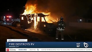 Fire destroys RV in National City