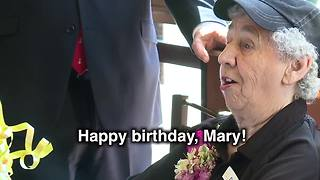 Local woman celebrates 90th birthday with party at work at McDonald's - Video