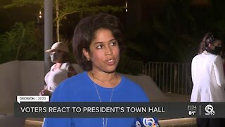 Voters voice their opinions after Trump town hall in Miami