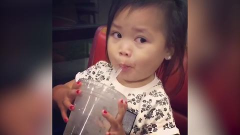 Little Girl Discovers What A Brain Freeze Is