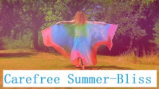 Carefree dancing with summer-wings