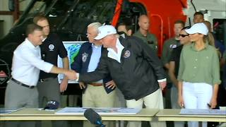 President Trump thanks everyone for helping with Irma - Video