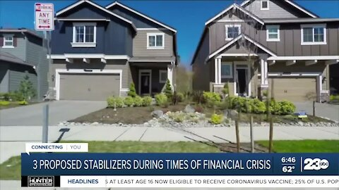 3 proposed stabilizers during times of financial crisis