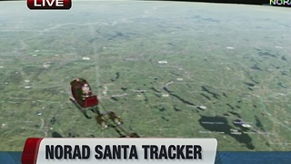 Fox 4 News at 10 tracking Santa - Video