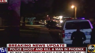 Phoenix police looking for possible gun in connection with deadly officer-involved shooting