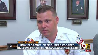Florence firefighters attempting rescue became trapped in burning building - Video