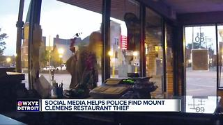 Social media helps police find Mt. Clemens restaurant thief