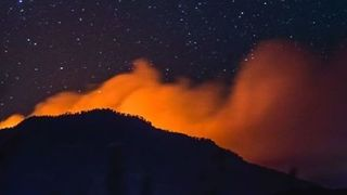 Timelapse Captures Wildfire Burning Outside Durango - Video