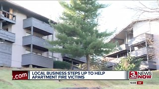 Local business helping Fontenelle Hills Apartment fire victims - Video
