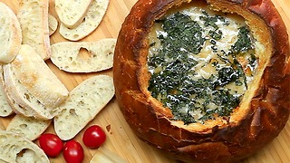 Pizza Dip Bread Bowl - Video