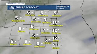 Cloudy skies and likely flurries Wednesday with highs in low to mid-30s