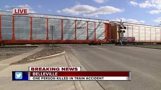 Deadly train accident in Belleville - Video