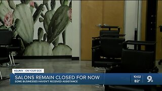 Salon and barbershop owners keep doors closed with no funding assistance