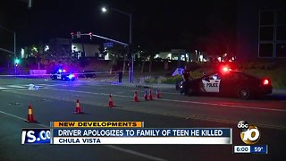Driver apologizes to family of Chula Vista teen he killed
