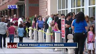 Black Friday shopping begins - Video