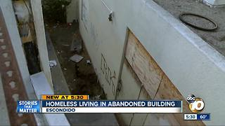 Neighbors want homeless out of buildings - Video