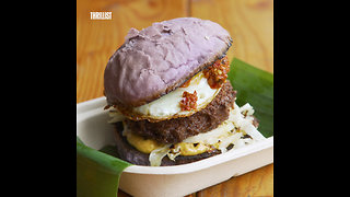 This Restaurant Serves Burgers on Purple Buns - Video