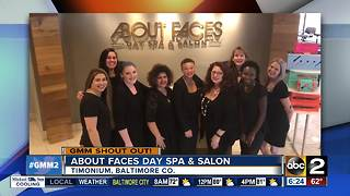 About Faces Day Spa & Salon sends GMM a shout out - Video