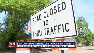 Emergency construction project has caused 'dangerous detours,' Tampa residents say - Video