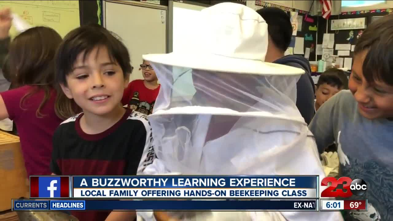 Local family gives students a buzzworthy learning experience