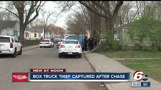 Suspect caught after 3-wheeled box truck chase with police - Video