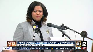Kevin Kamenetz presents Louis S. Diggs award to 3 honorees - Video