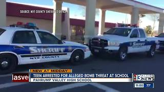 Teen arrested for alleged bomb threat at Pahrump Valley High School - Video