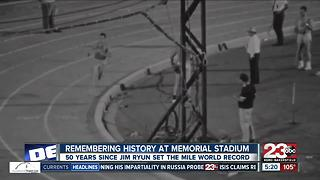 50 year anniversary of Jim Ryun setting mile world record at BC's Memorial Stadium - Video