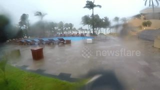 Tropical Storm Franklin hits Playa del Carmen in Mexico