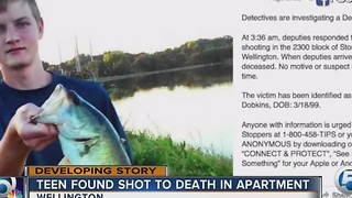 Teen found shot to death in apartment