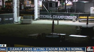 Cleanup crews getting stadium back to normal after National Championship