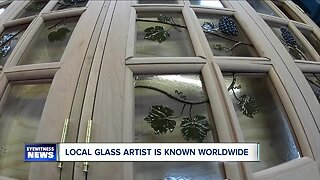 Local glass artist is known worldwide