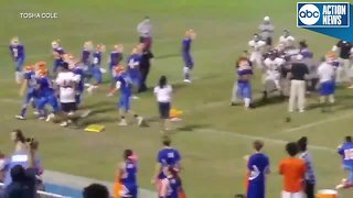 Brawl breaks out during high school football game
