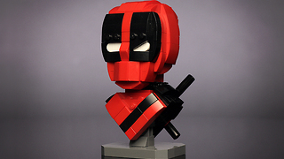 Custom LEGO Deadpool Bust - Video