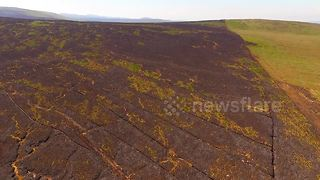 Aftermath footage shows damage from gorse fire at N. Ireland's Glenshane Pass