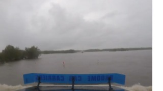 Astonishing Footage Shows Rural Roads Submerged by Floodwaters as Cyclone Kelvin Approaches - Video