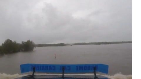 Astonishing Footage Shows Rural Roads Submerged by Floodwaters as Cyclone Kelvin Approaches