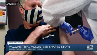 Vaccine trial volunteer shares story