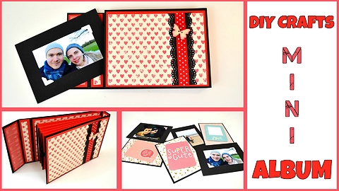 How to make a mini accordion photo album