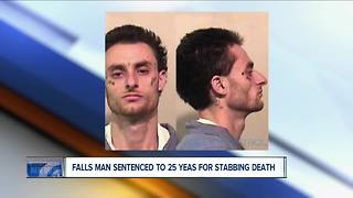 Falls man sentenced in brutal stabbing - Video