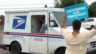 Protesters rally in Oldsmar to save USPS, demand funding